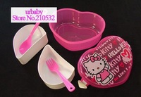 WHOLESALE LOT 10pcs Sanrio hellokitty hello kitty KT Dinner Bucket Canteen Lunch Box case flat rate free shipping