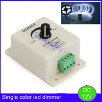 5pcsx led dimmer DC 12V 8A Light Dimmer Bright Brightness Adjustable Controller Single Color LED controller