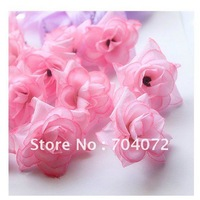 Wholesale -200pcs/lot simulation flower /artificial flower house decorations light Pink Mini rose weddig silk flowers