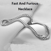 The Fast And Furious 6 Necklace For Vin Diesel Men Fashion 925 Sterling Silver Chain For Dominic Toretto Free Shipping 60cm&55cm