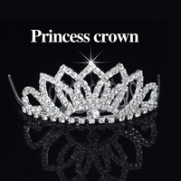 Free Shipping 6pcs/lot Rhinestones Hair Clips Princess Tiara Crown Cute Flower Hair Comb Bridal Hair Accessories for Wedding
