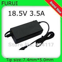 1pcs Free shipping LAPTOP charger AC Adapter For HP 463958-001 NC6320 DV5 DV6 DV7 18.5V 3.5A 65W 7.4*5.0mm