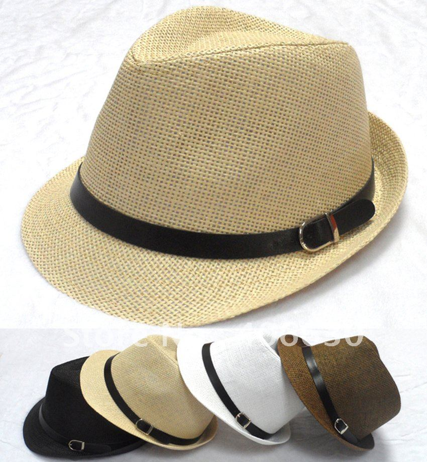 Summer Straw Hats For Men Summer Mens Straw Fedora Hats Amp Caps Jazz Amp Trilby Hats 6 Colors
