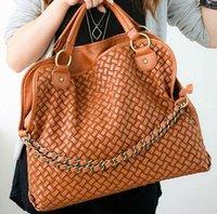 Korean Style Lady Totes Faux Leather Handbag Shoulder Bag Chain Bag