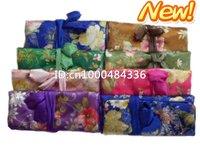 Free shipping! Wholesale 30 PCS NEW handmade Top silk travel jewellery rolls & boxes