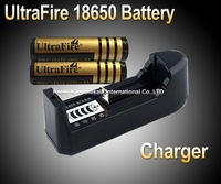UltraFire Lithium Ion 3.7V Rechargeable 18650 battery 2* 4000Mah 18650 battery + Battery charger