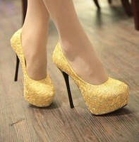 new designer lady's fashion sexy 14cm high heel shoes/Ladies wedding dresses shoes/Women high heel pump shoes L138