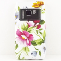 PEONY FLOWER TPU GEL SILICONE CASE COVER SKIN COATING POUCH FOR NOKIA N8