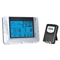 Wireless RF weather station  thermometer clock in low price best for promotion gift