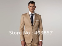 Men's Suit  Vantage Wool Modern comfort  Custom Made Single Breasted Two Button Suit Khaki MS0292