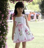 Girls dresses Big Flower girls clothes Cotton Dresses. HOt sale