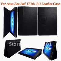 PU leather case for Asus Eeepad TF101, TF101 case stand protector, accept mix color