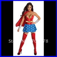 Sexy Wonder Woman Costume Hero DHL Free shipping 2012 Women party costume Wholesale 10pcs/lot Adult Fancy dress costume H315