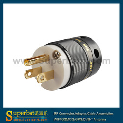 AU Mains Power Plug Male Connector Gold Conductor Cable Cord IEC(China (Mainland))