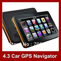 4.3inch Touch Screen MP3 FM Multi-language Portable GPS Navigator Car Navigation GPS with 4GB memory