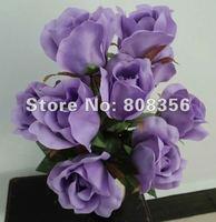 Elegant New Fashion 50pcs Silk Artificial Simulation Rose Decorative Bush Flower Camellia Bouquet Home Wedding Christmas Party