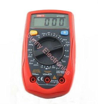 Free Shipping UT33C Palm Size Digital Multimeter Electrical Meter