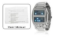 2012 NEW HOT fashion Templar - Japanese Inspired Blue LED Watch Electronic watch tin  box Freeshipping