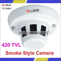 Mini CCD Camera 3.6MM LENS 420TVL PIR Smoke Detector Style Camera, CCTV Hidden Camera