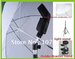 free shipping Holder Bracket Stand Translucent umbrella light stand for Photo Studio Accessories(China (Mainland))