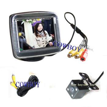 """3.5"""" Car rear view camera and monitor system  3.5-inch DIGITAL color TFT LCD monitor night vision car camera"""
