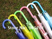 free shipping 10pcs/lot  transparent umbrella for kid and girls, clear stick & straight sun & poe/pvc umbrella