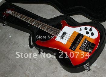 Wholesale -    Bass Guitar Newest Fireglo 4-string bass Electric Bass CS Sunburst HOT with case