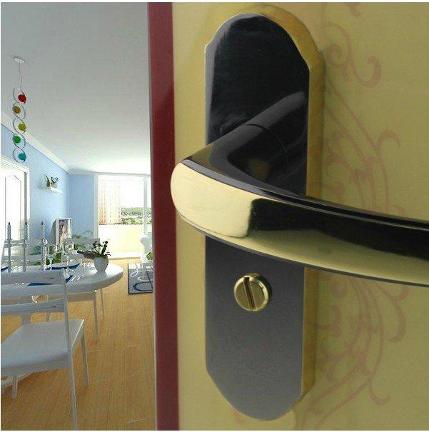검은 색 브러시 니켈 욕실 문 화장실 문 가구 잠금 핸들 캠-에서 ...