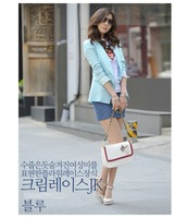 Free  shipping  wholesale  W651  New  shrug  blazer  chiffon   ladies  suits  both  in  Autumn  &  Spring