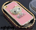 Luxury 3D Hello Kitty Bling Diamond Case For iPhone 4 4S w/LCD Screen Protector