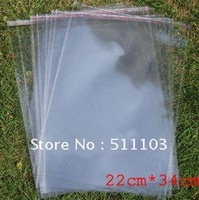 Free shipping(100pcs/lot)self-adhesive polybag,  opp bag,A4 paper bags 22 x  34 cm  thickness:0.05mm