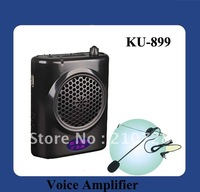 DHL Free Shipping 25 Watts Portable Waistband Megaphone Support MP3,USB,TF Card ,FM Radio(KU-899) Black