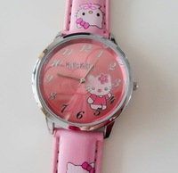 Free Shiping Cheaper Quartz watch Lovely Watch Hello Kitty Watch Fashion Watch Sweet Cute for Ladies Girl(5708) 10pcs/lots