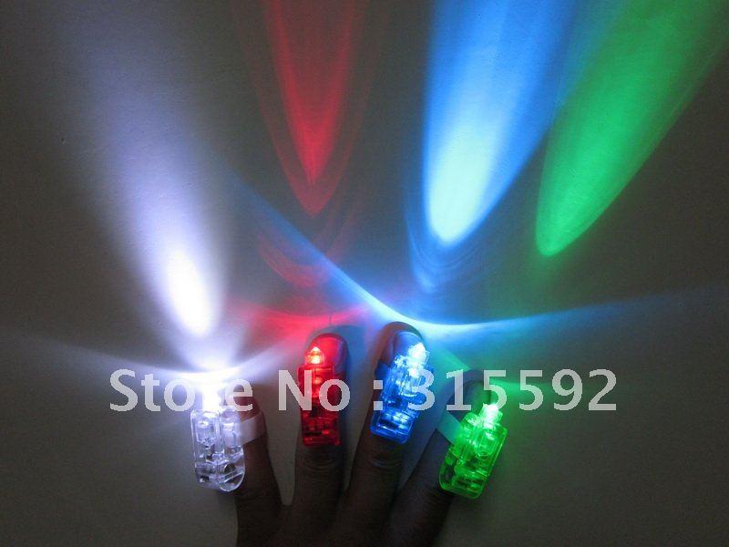 Free Shipping 200pcs/lot 50sets 4.5*1.5*1.5cm laser finger beams flashing finger lights flashing ring for Christmas(China (Mainland))