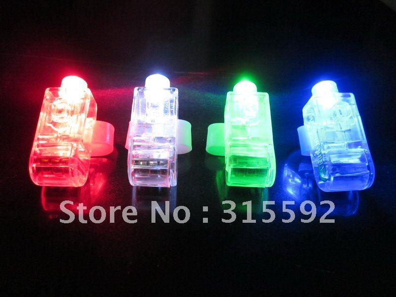 Free Shipping 2000pcs/lot (500set) 4.5*1.5*1.5cm laser finger beams flashing finger lights led finger lamp for Christmas(China (Mainland))