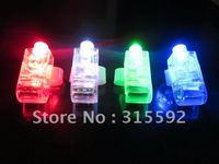 Free Shipping 2000pcs/lot (500set) 4.5*1.5*1.5cm laser finger beams flashing finger lights led finger lamp for Christmas