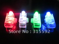 Free Shipping 2000pcs/lot (500set) 4.5*1.5*1.5cm laser finger beams flashing finger lights led finger lamp for Christmas