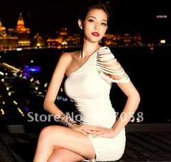 Free shipping 2012 newly women's fashion party dres / night club dress(China (Mainland))