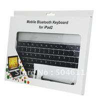 Thin Light Aluminum Alloy Wireless Bluetooth Keyboard Case Screen /ProtectorTouching Pen/Dustproof Plug/Earplugs for Apple iPad2