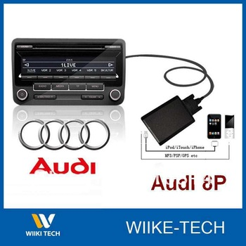NO FM Cae Radio Transmitter IPOD AUX Adapter MP3 Interface for Audi  8P A3/A4/A6/A8/S4/S6/TT/S8