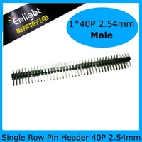 2.54mm 1*40P  Pin Header, 17mm Pin Long, Straight Header wafer connector 20pcs/lot Free shipping