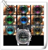 Fashion Rubber Brand Watch Mens LCD Watch Flashing Sport Watch Water Proof Free Shipping