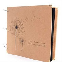 New 2014 free shipping dandelion DIY Photo Album Scrapbook Paper Crafts for baby wedding picture photograph sticker