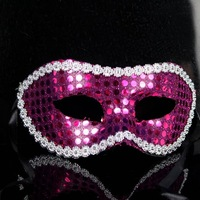 Free ship!15pc! Masquerade Halloween mask / half face sequined lace Cardin mask/9 color for choice