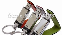 Wholesale NEW leather side Genuine 2GB 4GB 8GB 16GB 32GB USB 2.0 Memory Stick Flash Pen Drive, Free shipping