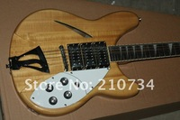 Wholesale -Popular Ric25 six string / 12 string natural color and small trucks electric guitar free delivery service