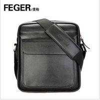 FEGER genuine leather man messenger bag / inclined shoulder bag, single shoulder bag for man