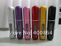 Wholesale EMS/DHL Free 50pcs 5ml Travel Refillable Perfume Container Spray Bottle Perfume Atomizer,6 colors