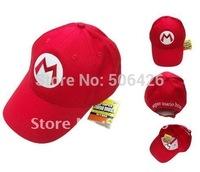 HOT the latest free shipping DHL EMS 100pcs/lot Super Mario Bro Anime mario Hat Kids Cap Cosplay New 4 colors choose mario cap