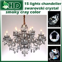 Swarovski  crystal  hotsale   15  Lights smoky gray  color modern crystal  super design top quality  chandelier